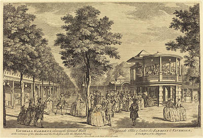 Garden Entrance Drawing - Johann Sebastian Müller After Samuel Wale German by Quint Lox