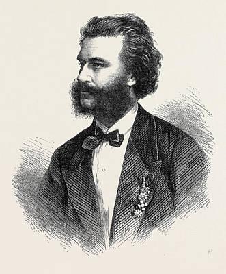 Johann Strauss Art Print by English School