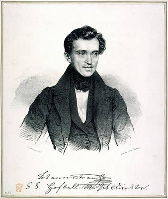 Eliza Photograph - Johann Strauss I by British Library