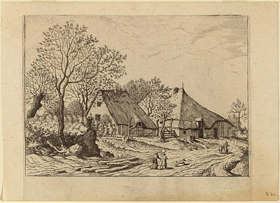 Shed Drawing - Johannes And Lucas Van Doetechum After The Master by Quint Lox