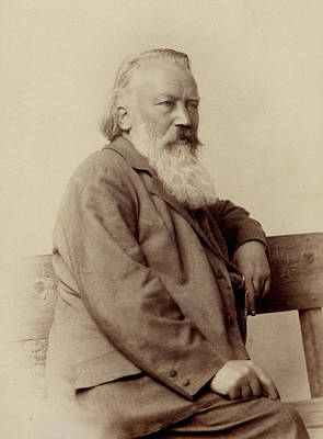 Photograph - Johannes Brahms Seated Portrait by English School