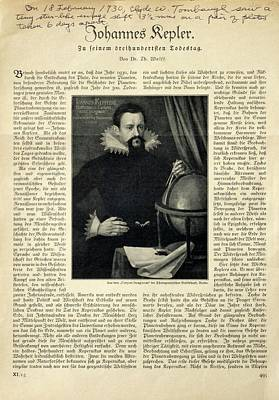 Johannes Kepler Art Print
