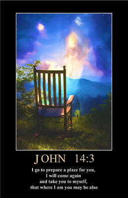 Digital Art - John 14 by John Haldane
