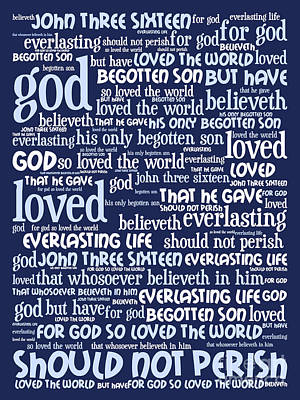 John 3-16 For God So Loved The World 20130622bwco80 Vertical Art Print by Wingsdomain Art and Photography
