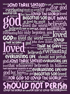 John 3-16 For God So Loved The World 20130622bwma Vertical Art Print by Wingsdomain Art and Photography