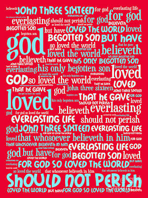 John 3-16 For God So Loved The World 20130622p120 Vertical Art Print by Wingsdomain Art and Photography