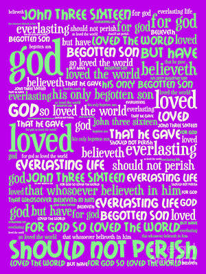 John 3-16 For God So Loved The World 20130622p60 Vertical Art Print by Wingsdomain Art and Photography