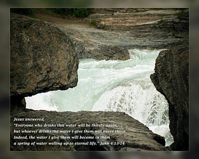 John 4 13-14 Art Print