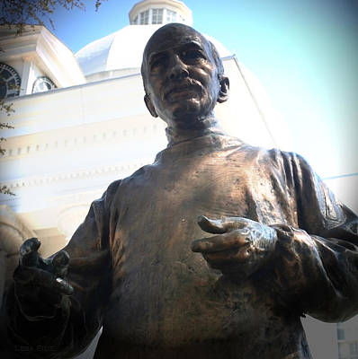Photograph - John A Wyeth Statue State Capitol by Lesa Fine