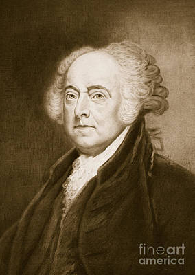 Statesmen Drawing - John Adams by George Healy