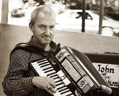 Photograph - John And His Accordion Tunkhannock Pa. by Arthur Miller