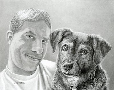 Smiling Drawing - John And Howie by Sarah Batalka