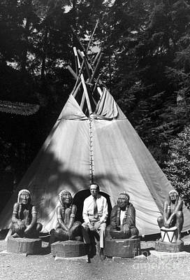 Photograph - John And Native Americans by Joan Liffring-Zug Bourret