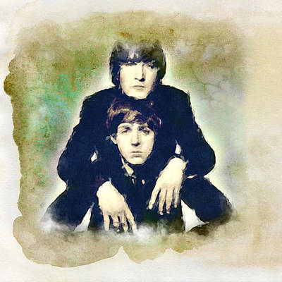 Digital Art - John And Paul by Paulette B Wright