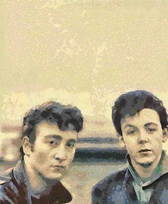 Photograph - John And Paul When It All Started by Paulette B Wright