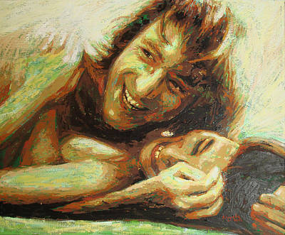 Jhon Painting - John And Yoko Portrait One by Erick Nogueda