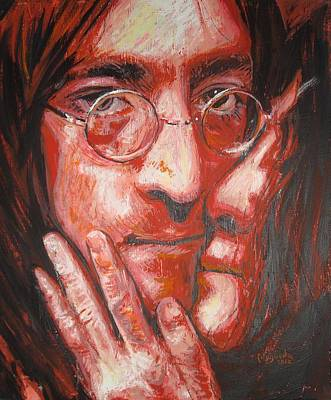 Jhon Painting - John And Yoko Portrait Two by Erick Nogueda