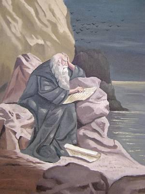 John At Patmos Art Print by Tanya Provines