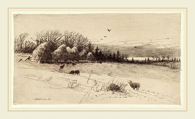 Austin Drawing - John Austin Sands Monks, Evening After The Storm by Litz Collection