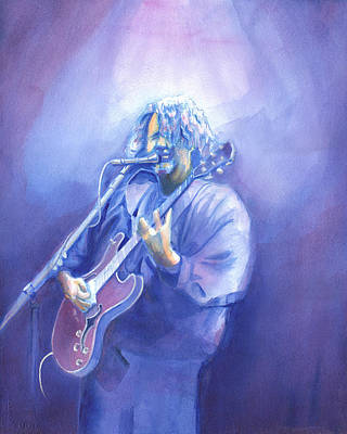 Painting - John Bell - Widespread Panic by David Sockrider