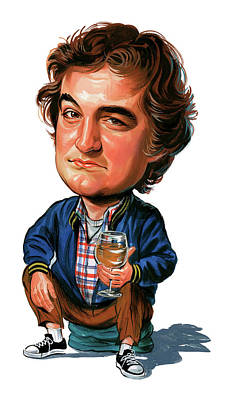 John Painting - John Belushi by Art