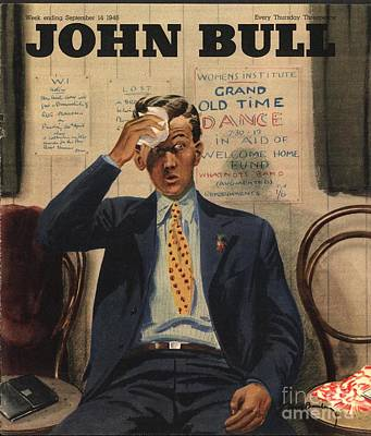 John Bull 1946 1940s Uk Tired Exhausted Art Print by The Advertising Archives