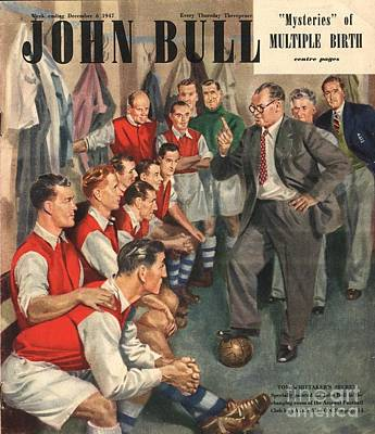 Soccer Drawing - John Bull 1947 1940s Uk  Arsenal by The Advertising Archives