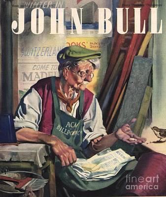 John Bull 1947 1940s Uk Birds Feeding Art Print by The Advertising Archives