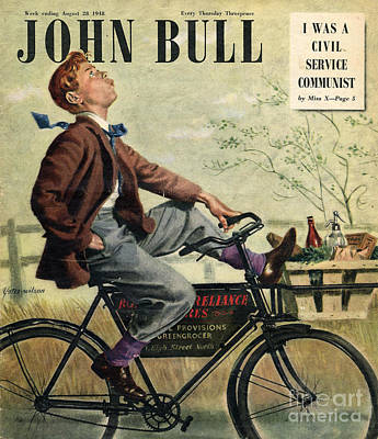 Nineteen Forties Drawing - John Bull 1948 1940s Uk Bicycles Bikes by The Advertising Archives