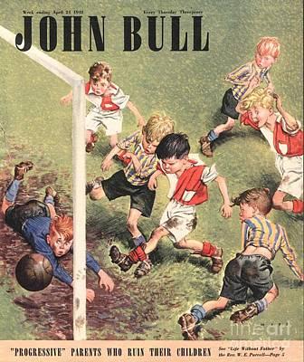 Soccer Drawing - John Bull 1948 1940s Uk Football by The Advertising Archives