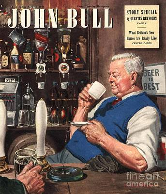 Nineteen Forties Drawing - John Bull 1948 1940s Uk Pubs Tea by The Advertising Archives