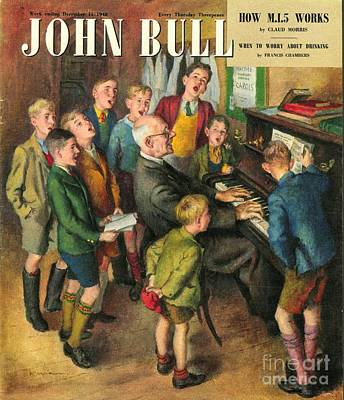 Nineteen Forties Drawing - John Bull 1948 1940s Uk School Concerts by The Advertising Archives