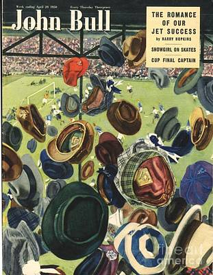 Soccer Drawing - John Bull 1950 1950s Uk Football Hats by The Advertising Archives