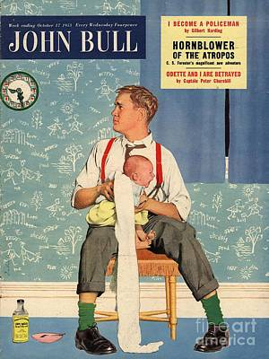 Drawing - John Bull 1950s Uk Babies Fathers by The Advertising Archives