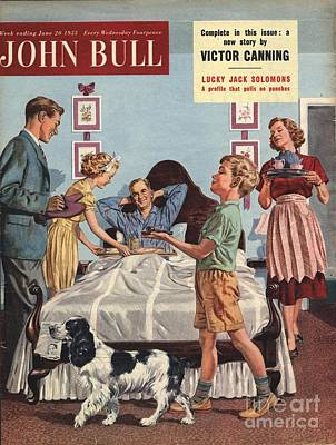 John Bull 1950s Uk Father�s Day Art Print by The Advertising Archives