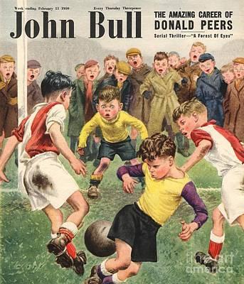 Soccer Drawing - John Bull 1950s Uk Football Children by The Advertising Archives