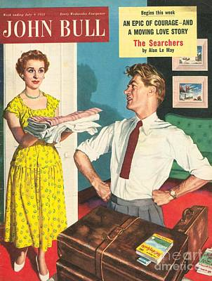 John Bull 1950s Uk Holidays Packing Art Print by The Advertising Archives