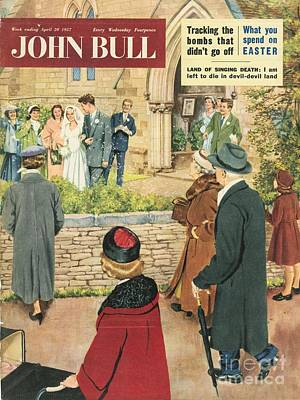 John Bull 1950s Uk Love Marriages Art Print by The Advertising Archives