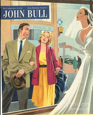 John Bull 1950s Uk Marriages Shopping Art Print by The Advertising Archives