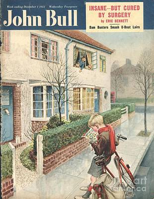 Bike Drawing - John Bull 1950s Uk Newspapers Boys by The Advertising Archives
