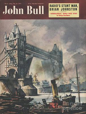 John Bull 1951 1950s Uk Tower Bridge Art Print by The Advertising Archives
