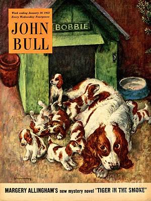 John Bull 1952 1950s Uk Dogs Puppies Art Print by The Advertising Archives