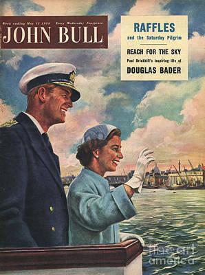 John Bull 1954 1950s Uk Queen Elizabeth Art Print by The Advertising Archives
