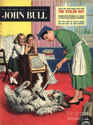 John Bull 1957 1950s Uk Dogs Cleaning Art Print by The Advertising Archives