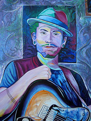 Jam Bands Painting - John Butler by Joshua Morton