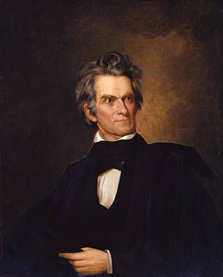 Politics Painting - John C Calhoun  by War Is Hell Store