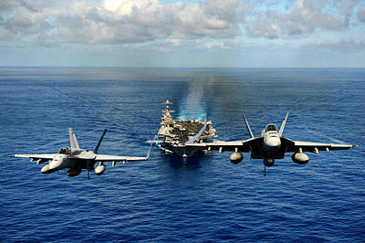 John C. Stennis Carrier Strike Group Art Print by Mountain Dreams