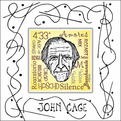 John Cage Art Print by Paul Helm