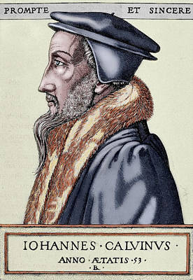 Head And Shoulders Photograph - John Calvin (1509-1564 by Prisma Archivo