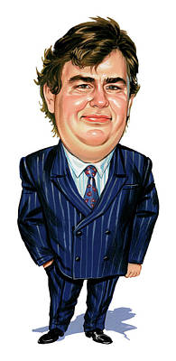 Comics Royalty-Free and Rights-Managed Images - John Candy by Art